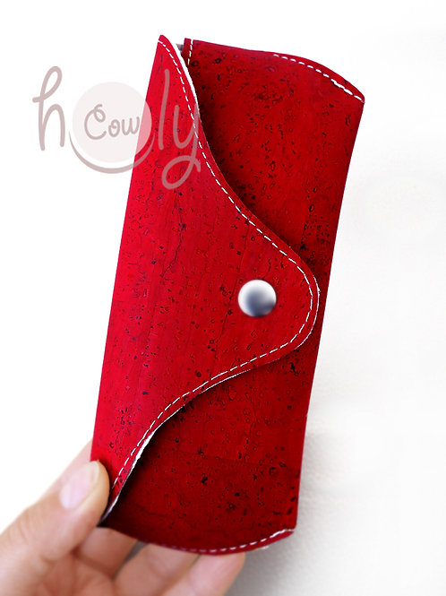 Red Eco Friendly Cork Sunglasses Case