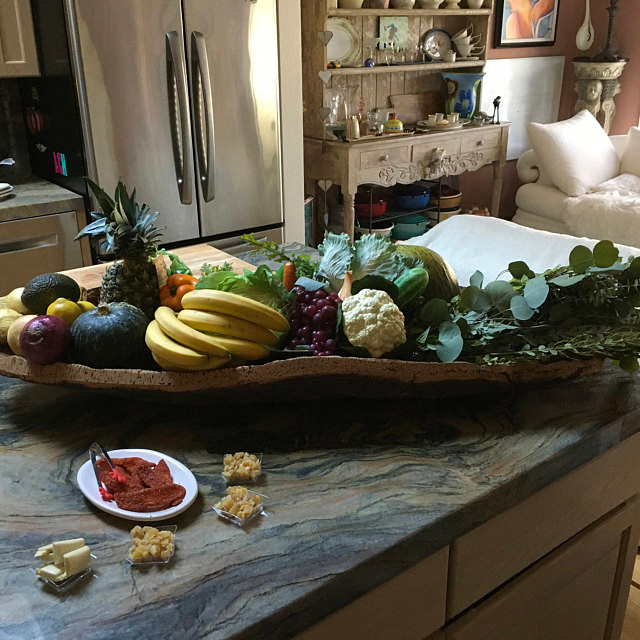 Amazing large cork fruit bowl