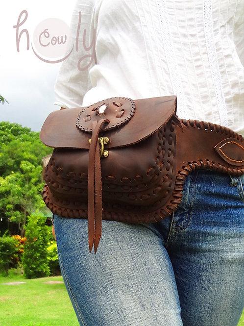 """Leather """"Crazy Horse"""" Belt Bag"""