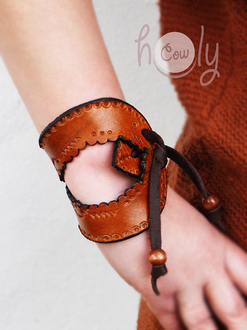 Brown Leather Crazy Boho Bracelet