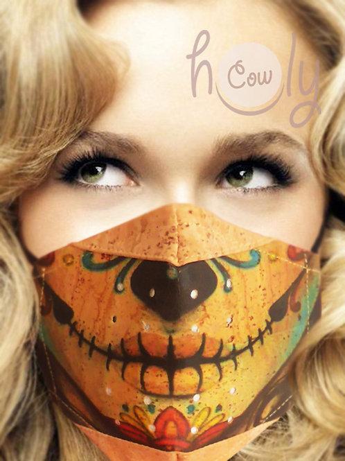 Lips Reusable Cork Face Mask