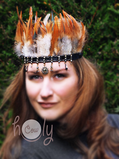 Handmade Boho Feather Headband