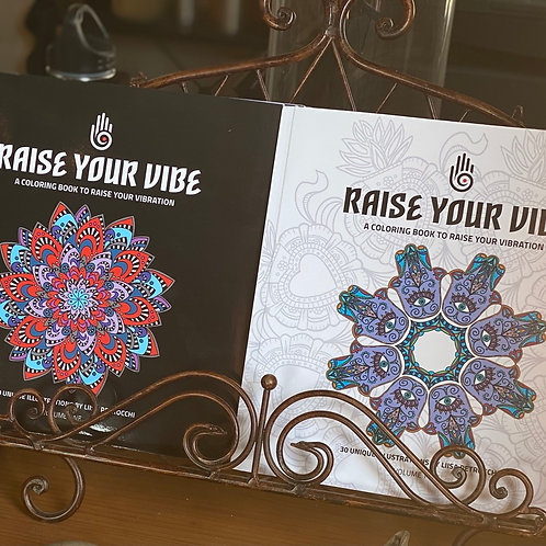 Raise Your Vibe Coloring Book