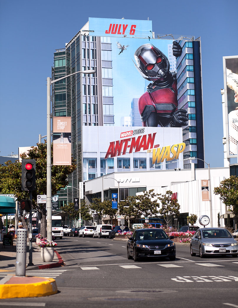 Ant-Man and the Wasp Sunset Blvd Billboard