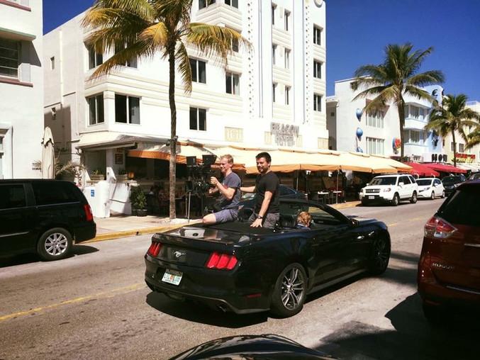 Camera car shoot on Miami