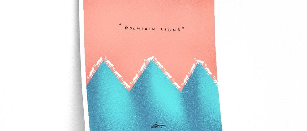 Mountain Lions Print