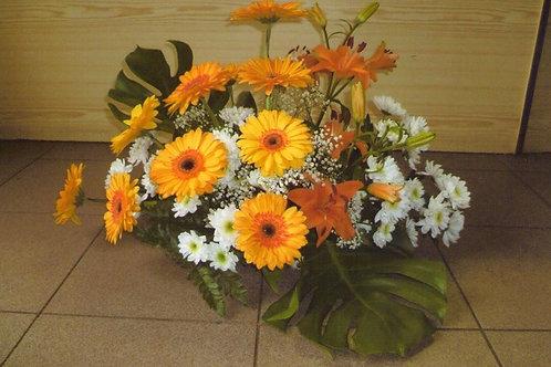 Kytice gerbery, lilie, chryzantémy (č.26)