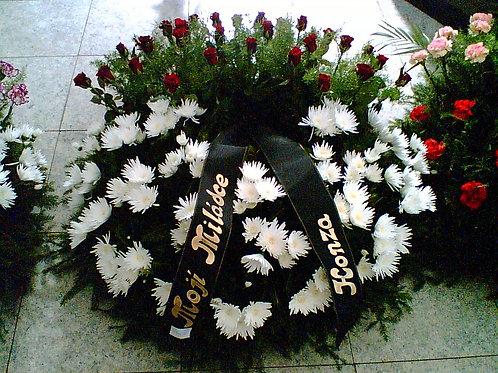 Věnec růže, chryzantémy (č.13)