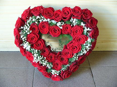 Srdce růže 40 cm
