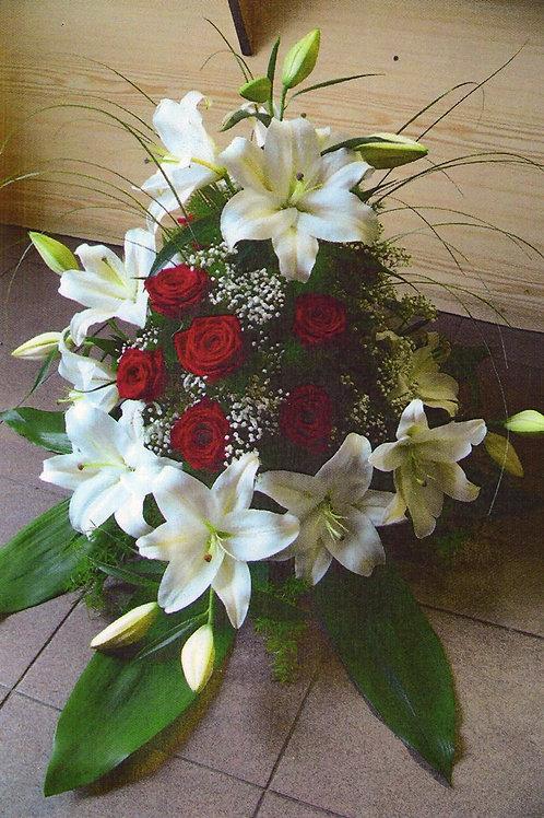 Kytice lilie, růže (č.25)