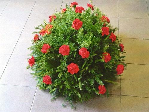 Píchaná kytice z karafiátů (č.1)