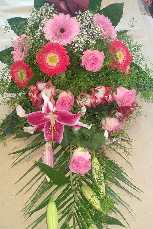 Řezaná kytice růže, gerbery, lilie (č.14)