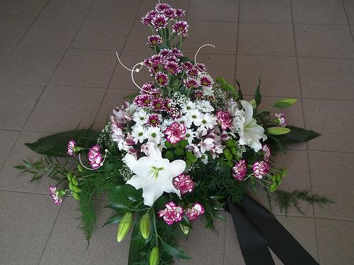 Kytice chryzantémy, karafiáty, lilie (č.6)