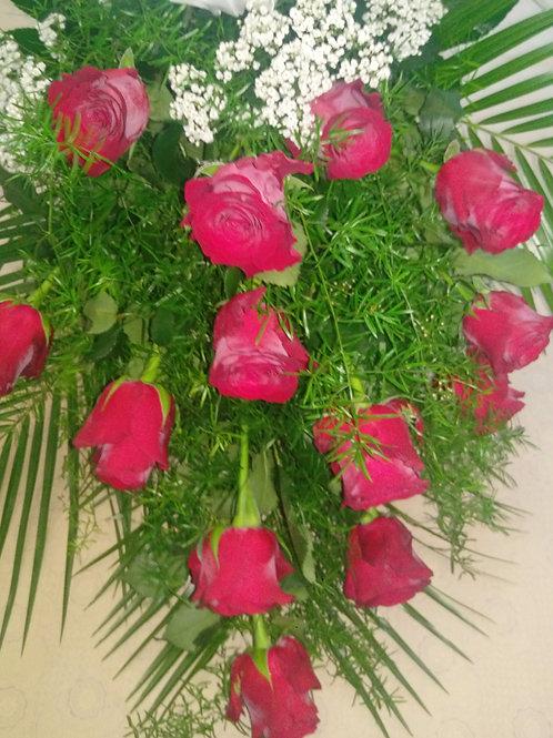 Řezaná kytice růže, nevěstin závoj (č.13)