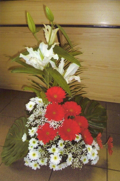 Kytice gerbery, lilie, chryzantémy (č.27)