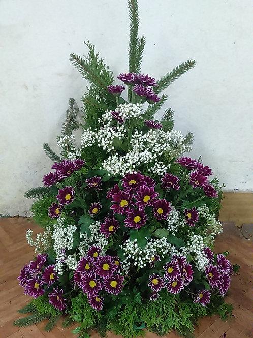 Kytice chryzantémy, nevěstin závoj (č.11)
