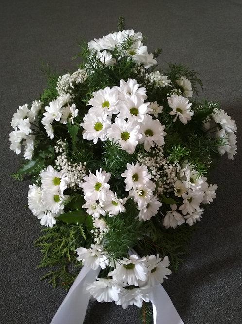 Rakvová kytice chryzantémy