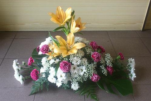 Kytice karafiáty, lilie, chryzantémy (č.28)