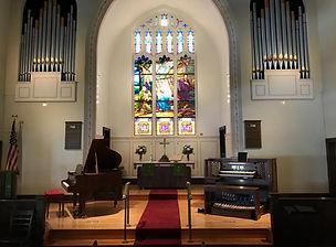 Chancel with Piano & Organ