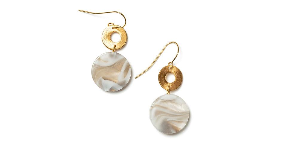 Maple earrings beige