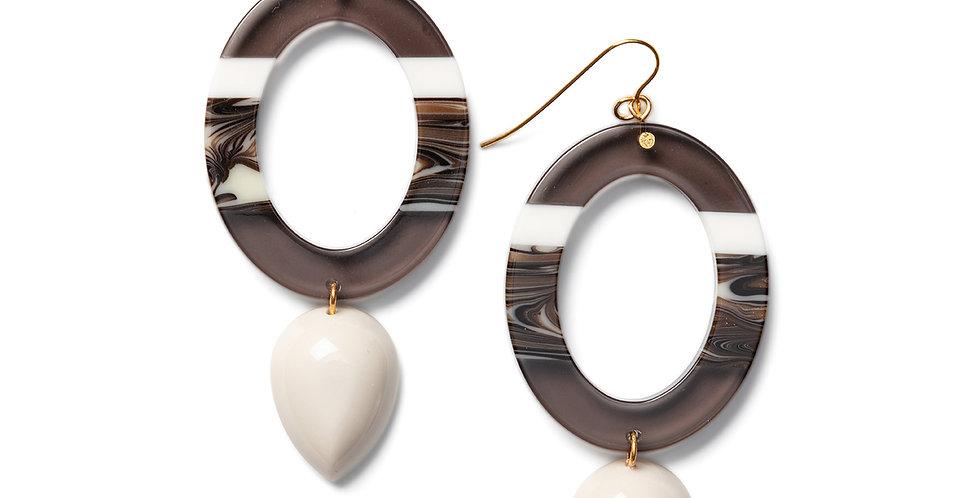 Nanao earrings greige