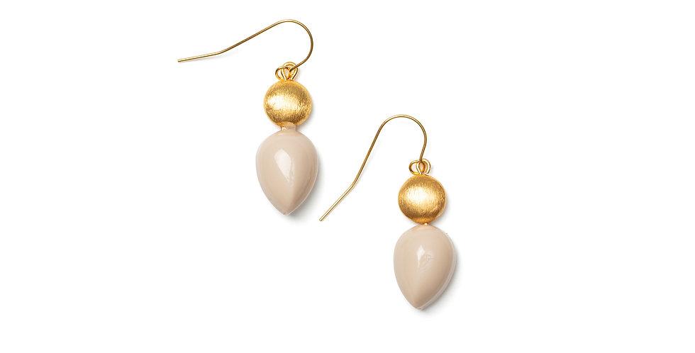 Mar earrings cream