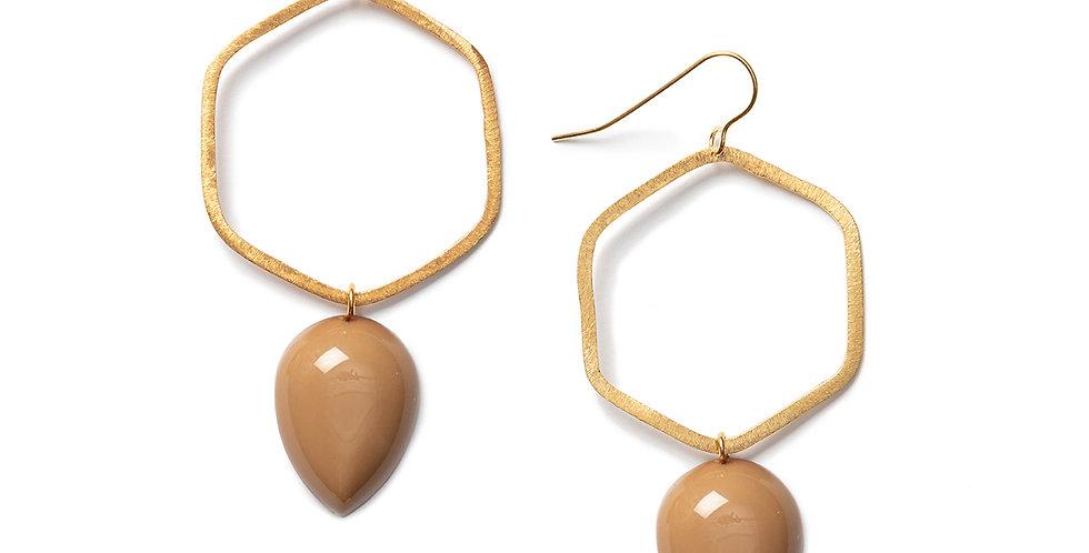 Tobu earrings camel