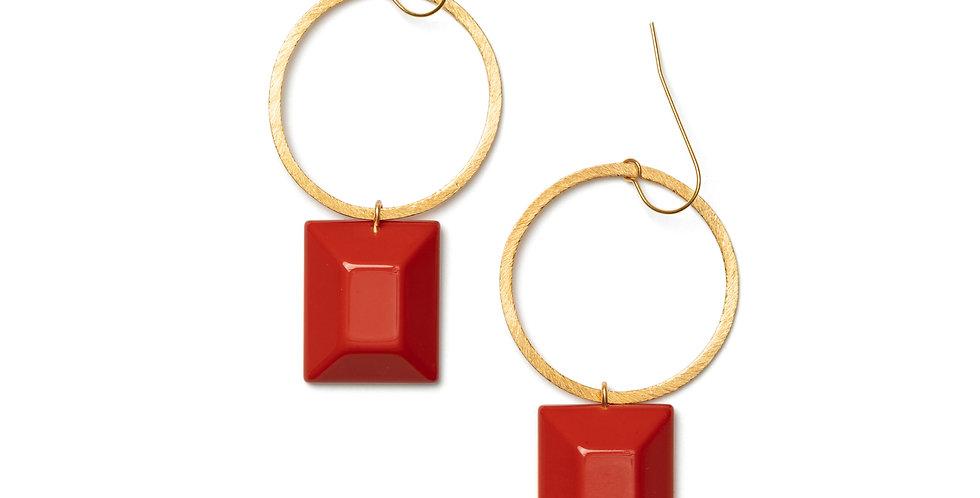 Pura earrings coral