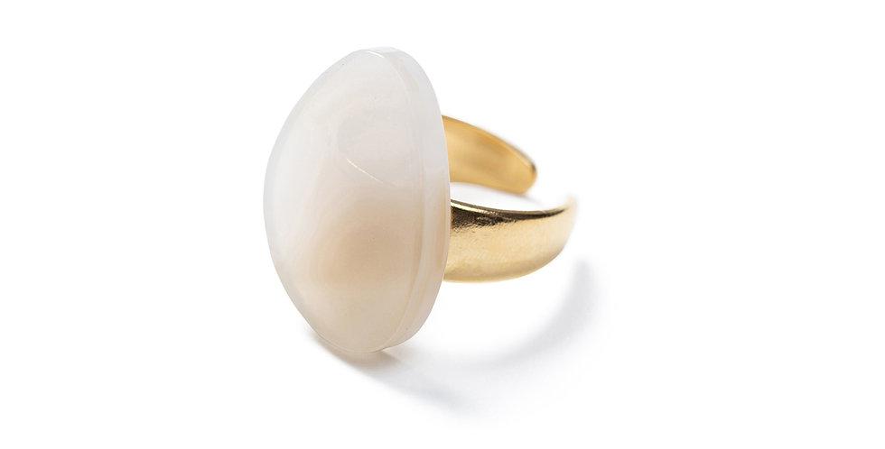 Okra ring beige