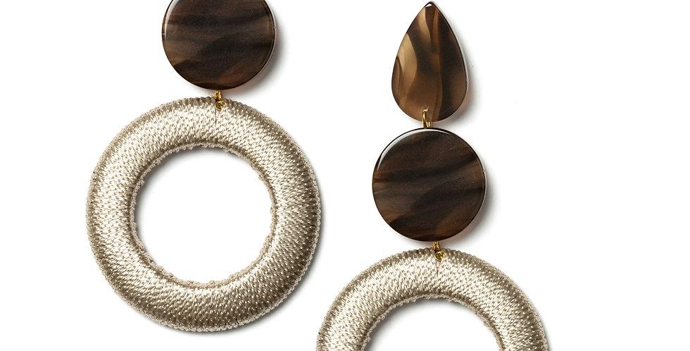 Merino earrings beige