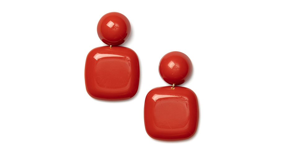 Azul earrings coral