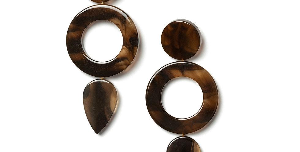 Chive earrings brown