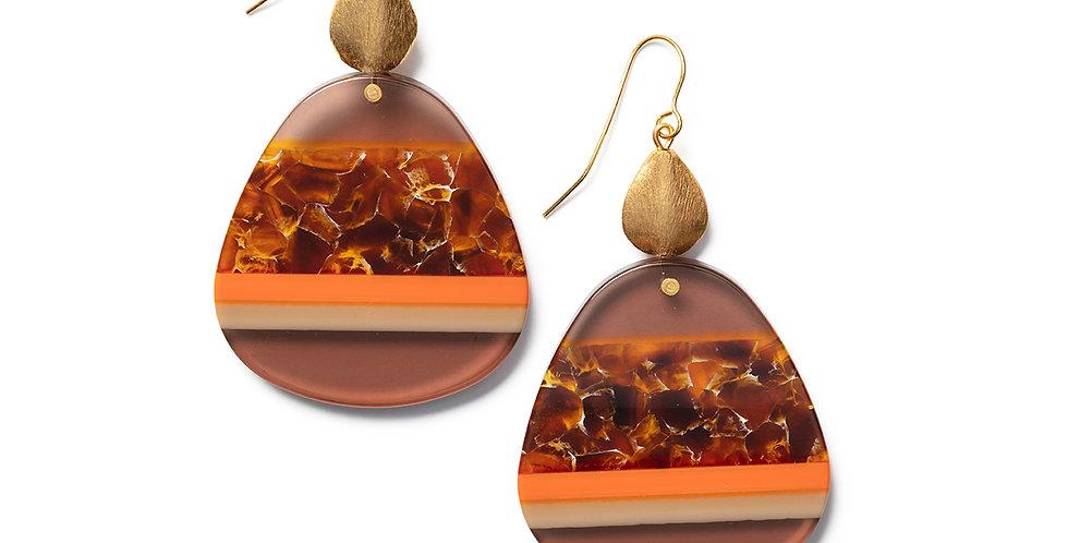 Awa earrings orange