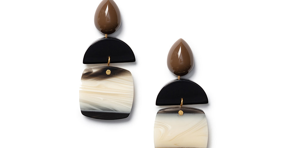 Uma Earrings khaki