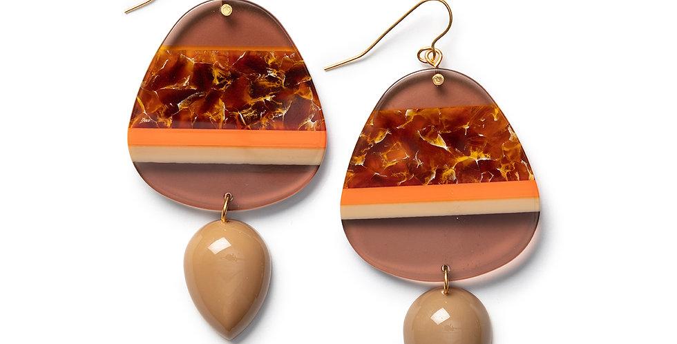 Yufu earrings camel