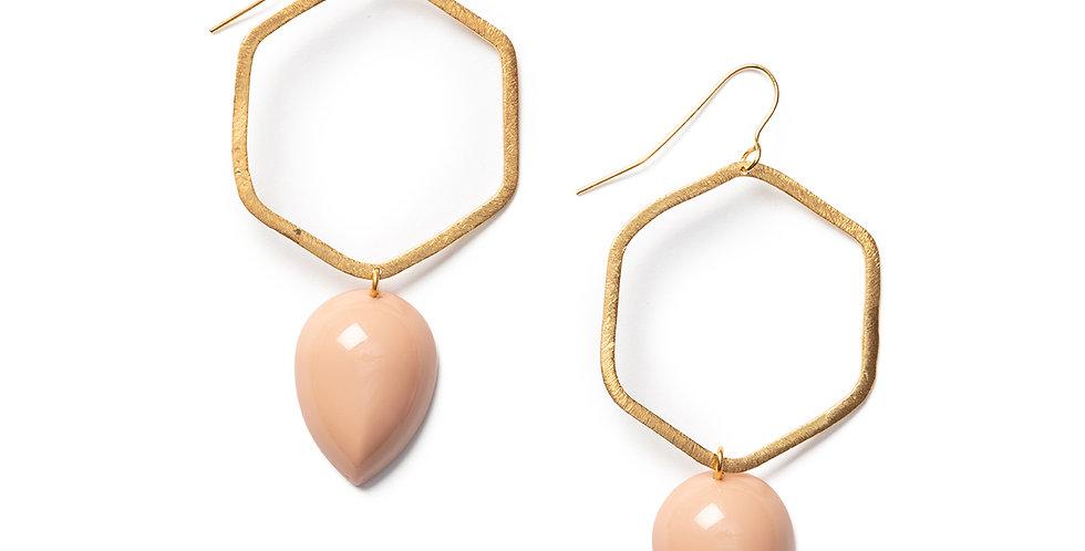 Tobu Earrings pink