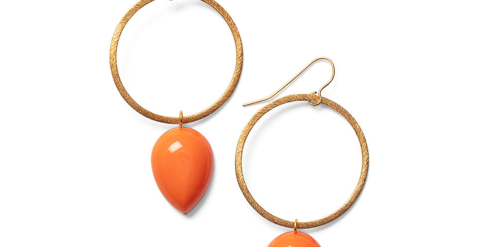 Seiyo earrings orange