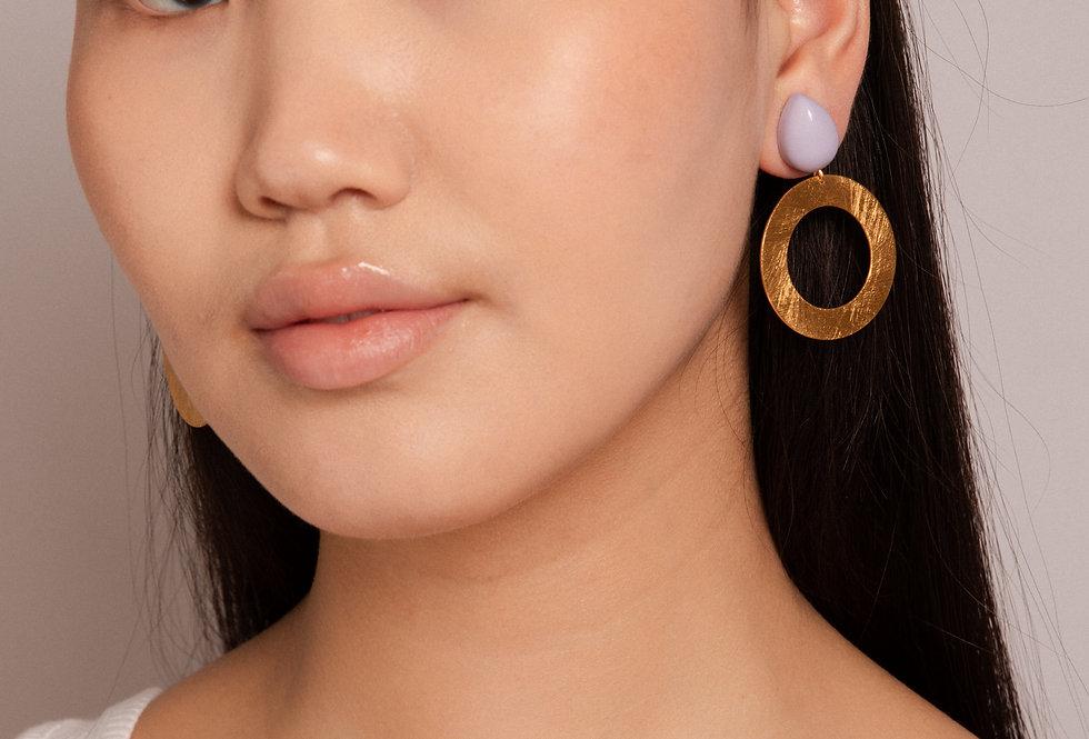 Lago earrings lila