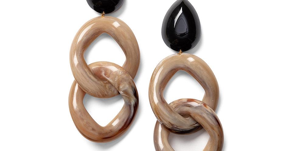 Kusa earrings black