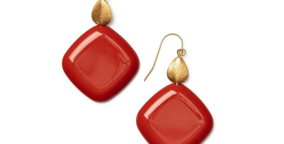 Brisa earrings coral