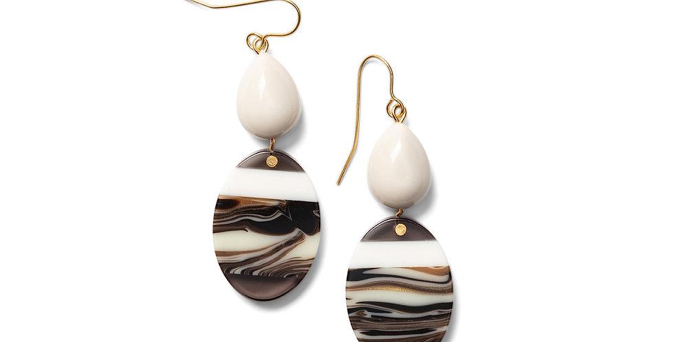 Kofu earrings greige