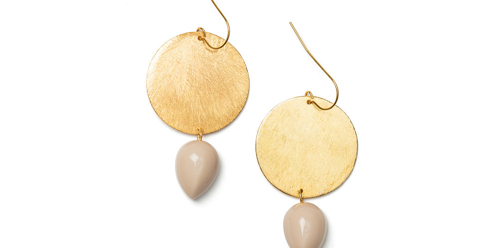 Paz earrings cream