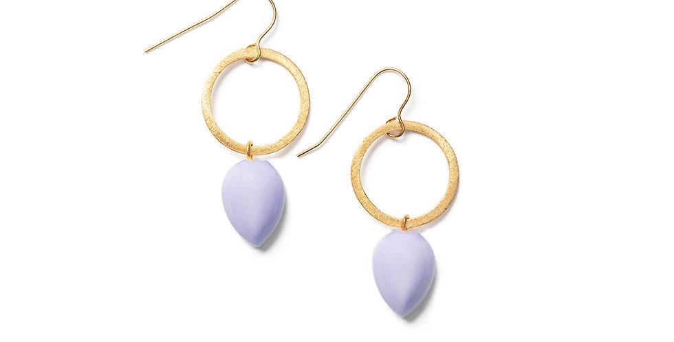 Ushi earrings lila