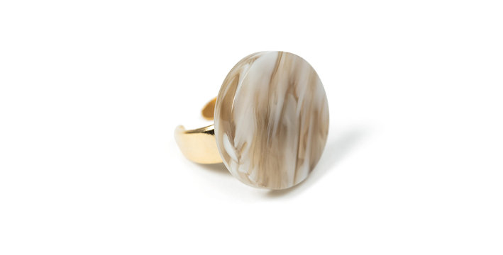 Toile ring beige