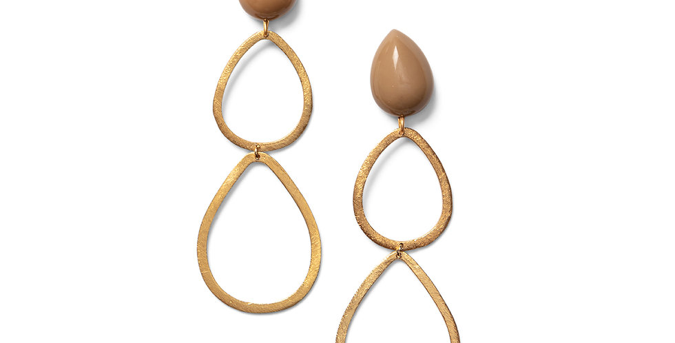 Saku earrings sand