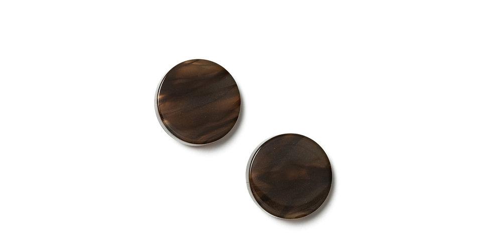 Ash earrings brown