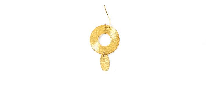 Pleated earring single