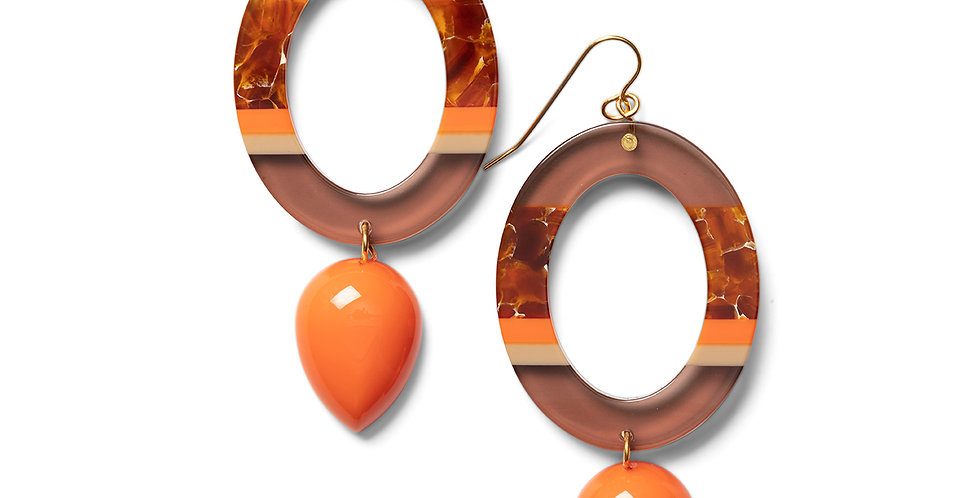 Nanao earrings orange