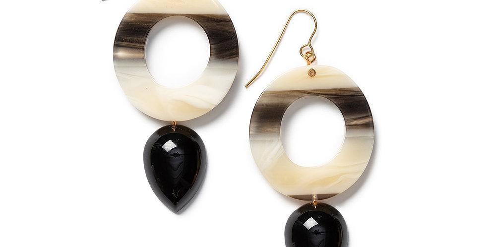 Rama earrings black