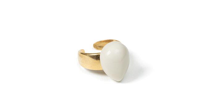 Slate ring beige